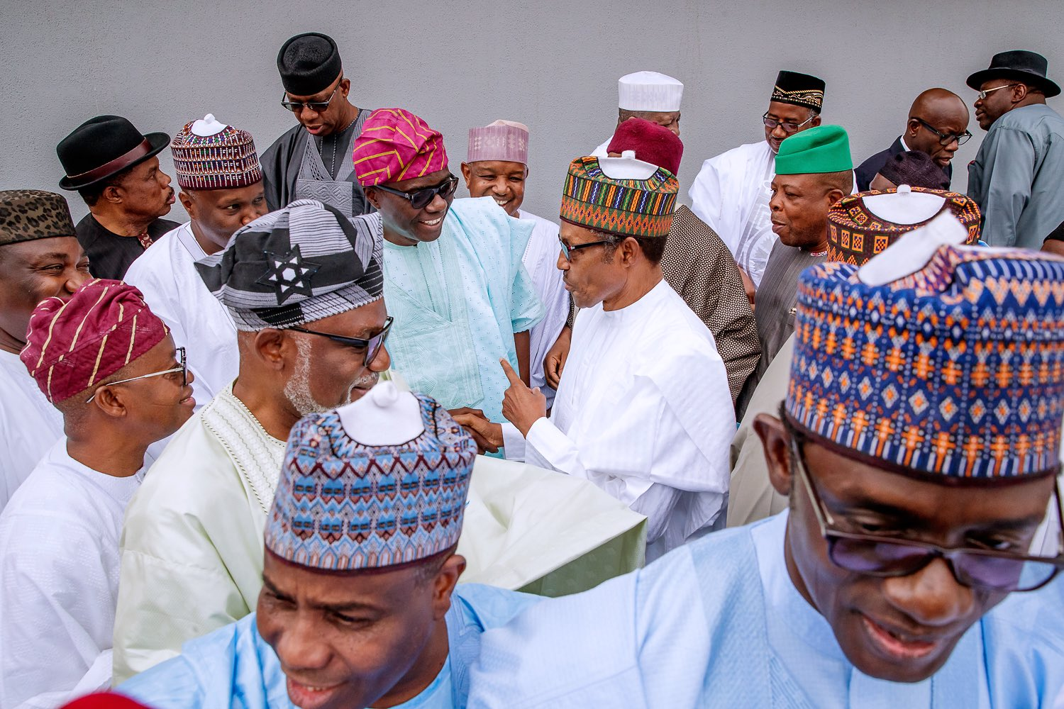 3 IMG 20190607 160437 - Spot your governor!!! Buhari meets all 36 states' governors in Abuja