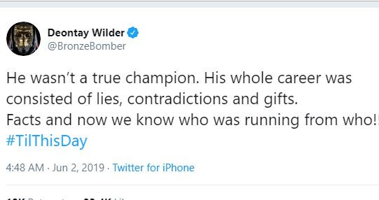 5cf35d42c3223 - 'His whole career consisted of lies' – Deontay Wilder mocks Anthony Joshua following his defeat