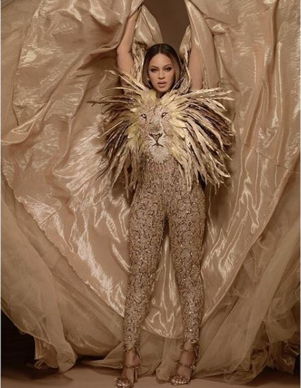 [Photos]: Beyonce stuns in new photos dressed as 'Nala' from the movie 'Lion King'