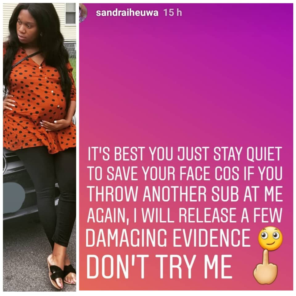 5cf612756a089 - 'Throw another sub, I will release damaging evidences' – Ubi Franklin's 4th babymama threatens him