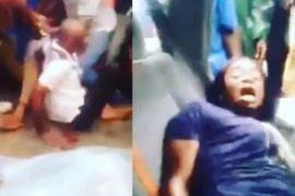 [Video]: 'My husband is a ritualist' - Nigerian woman cries out as she and son are rescued from the back of an SUV