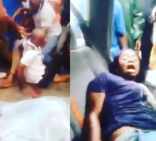 5cfb7cd0ba9c5 - [Video]: 'My husband is a ritualist' – Nigerian woman cries out as she and son are rescued from the back of an SUV