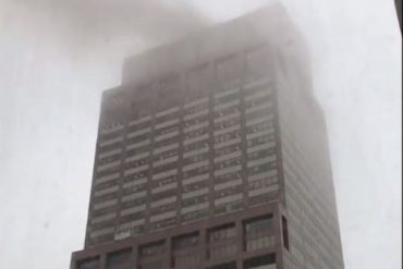 Breaking: One dead as helicopter crashes into the roof of a 54-story skyscraper in New York