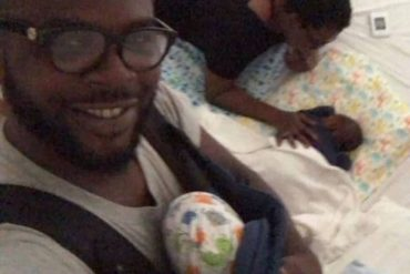 [Photos]: Funke Akindele shares new photos of her twins as she celebrates her husband on father's day