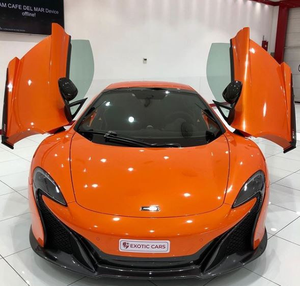 [Photos]: Mompha claims he just acquired a Mclaren 'flying car' to celebrate his birthday