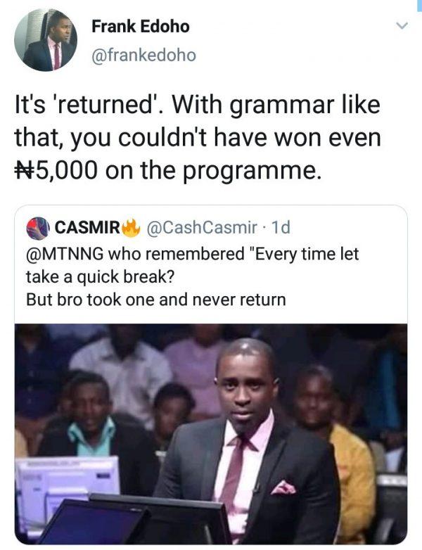 5d0bd5b67aa89 600x782 - Frank Edoho Savagely Replies A Follower Who Mocked Him On Twitter