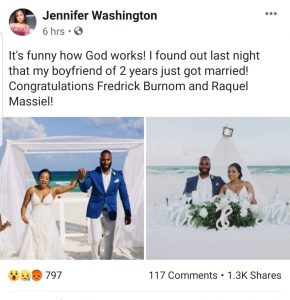 5d0d7468639ae 290x300 - Shocking! Lady Finds Out Her Boyfriend Of 2 Years Just Got Married