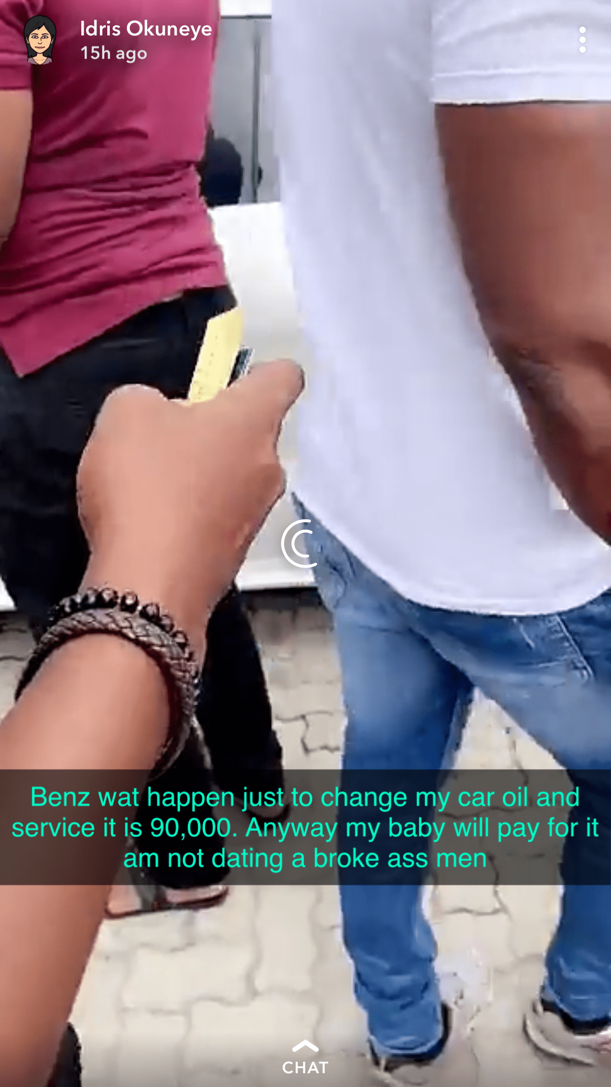 Bobrisky cries out over the high cost of servicing his Benz
