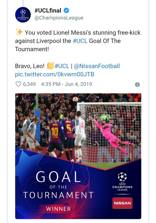 9558555 screenshot20190605135524 jpegd11f9b3e44fa89cb332fb82c6d3e7839 - Lionel Messi Wins UCL Best Goal Of The Season