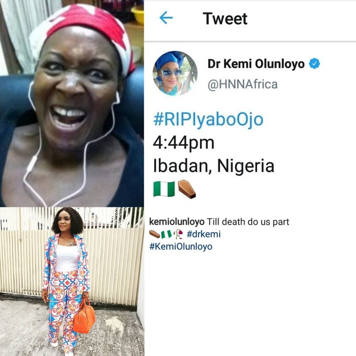 Kemi Olunloyo Sends Death Message To Iyabo Ojo