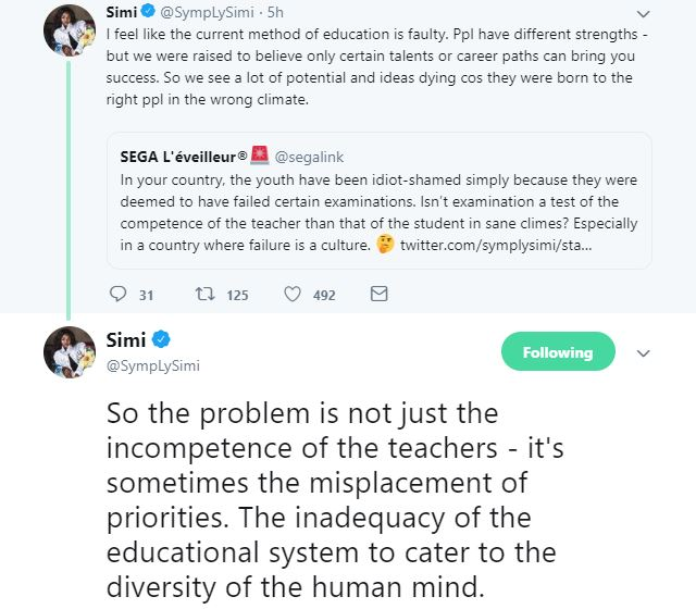 9607150 sm   1 jpegaccbb173049df17c6a5c9a53eb49687b - 'Our Educational System Is Faulty' – Simi Reveals