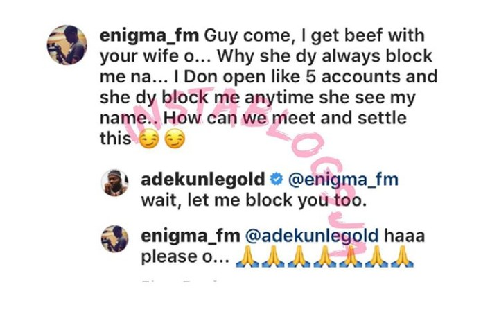 Boy Blocked By Simi, Begs For Mercy, As Adekunle Gold Moves To Double His Trouble