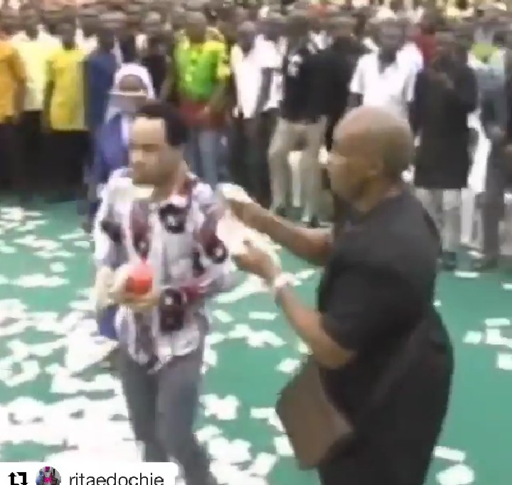 """9636504 screenshot201906160451452 jpeg4c0e206577ad1a55ca04b5e9eb930748 - """"Isn't This Mammon Worship? """" Daddy Freeze Reacts To Pastors Spraying Money On Each Other"""