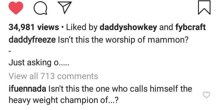 """9636520 screenshot201906160450592 pngf750c5e5980863de7871fd4a898cee94 - """"Isn't This Mammon Worship? """" Daddy Freeze Reacts To Pastors Spraying Money On Each Other"""