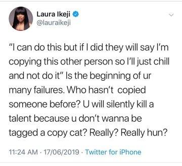 9646754 1560771942819 jpege1c2bd98fc98dd338889a107f6e2450a - 'If Copying Someone Makes You Rich Do It' – Laura Ikeji