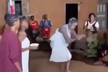 [VIDEO]: Lady Dances Zanku Instead Of Her Traditional Dance During A Festival In Benin