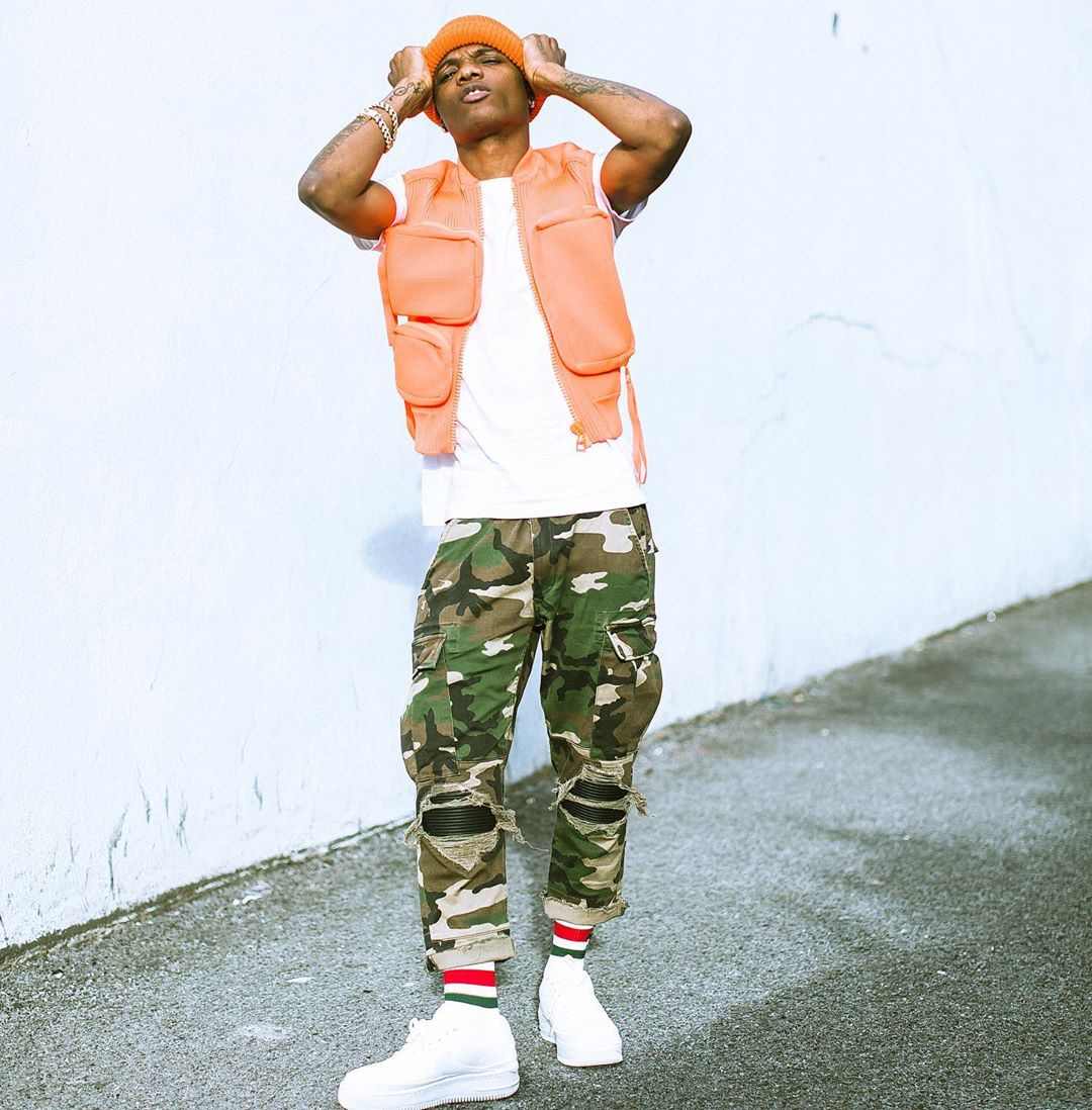 [PHOTO]: Wizkid Wears Loius Vuitton Rubber Utility Gilet Jacket Worth1million Naira