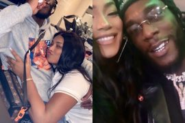 Burna Boy And Girlfriend, Stefflon Don Share A Kiss As They Reunite