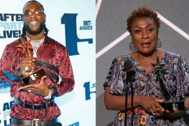 Burna Boy Explains Why His Mum Collected His BET Award