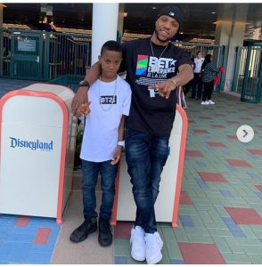 [PHOTOS]: Charles Okocha Steps Out With Son Following Successful Surgery