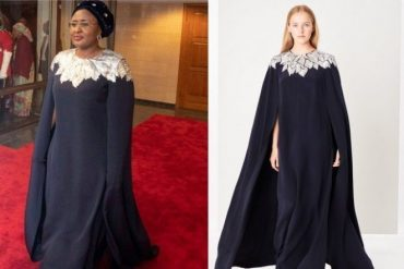 Here Is How Much Nigeria's First Lady,Mrs. Aisha Buhari's Democracy Day Outfit Worth