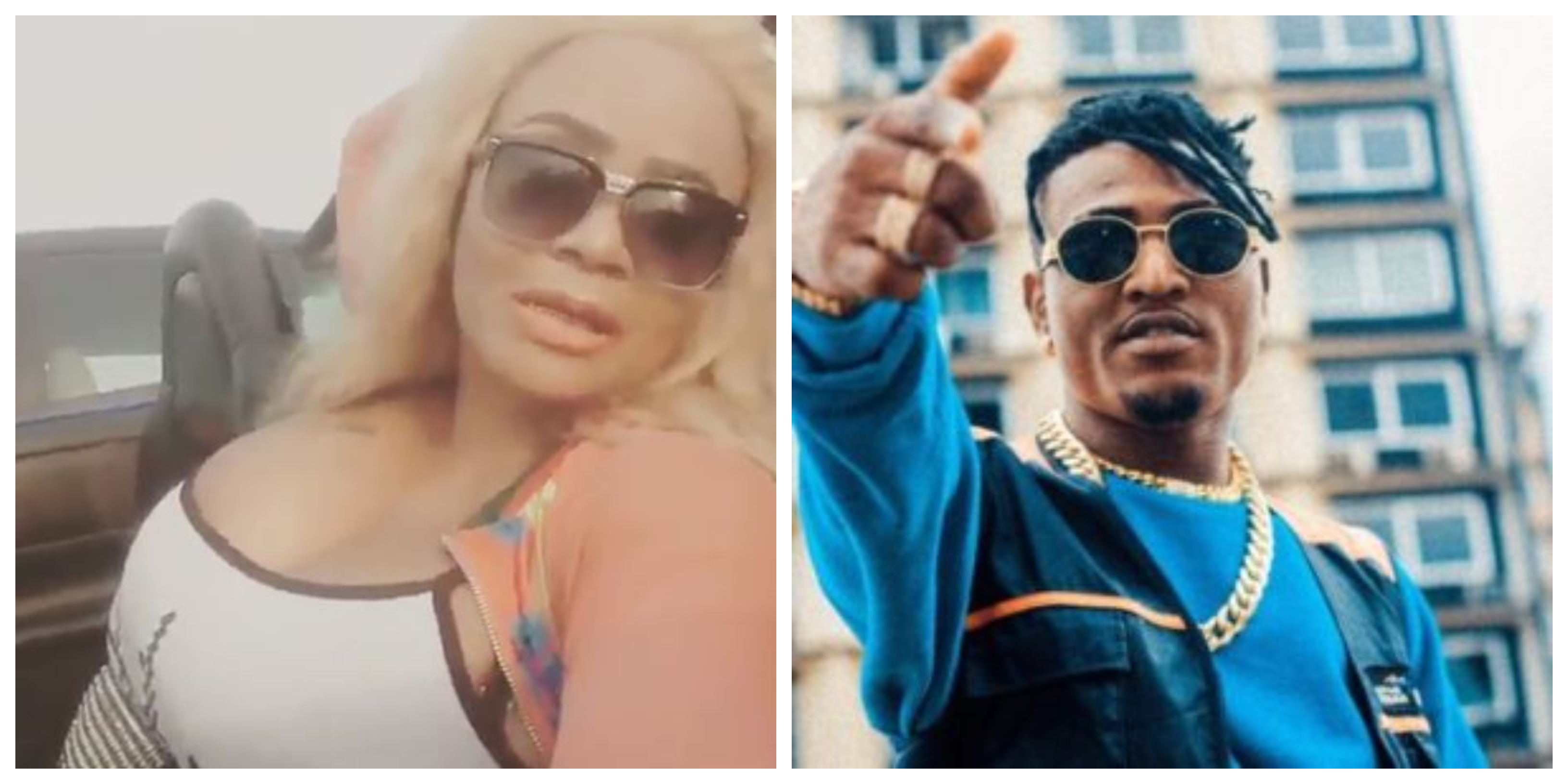 ontroversial Actress, Cossy Ojiakor Spotted With Singer, Idowest On A Rooftop