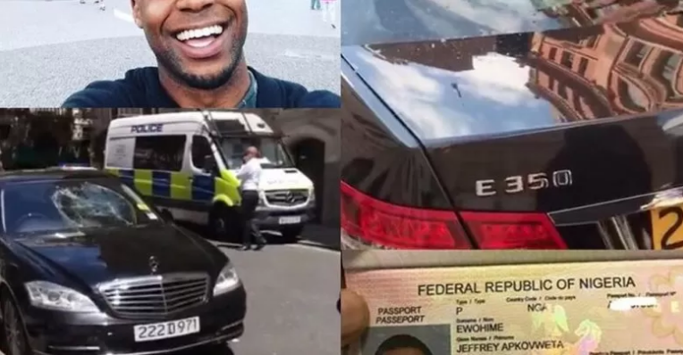 Nigerian man who destroyed cars at the embassy in London, arrested
