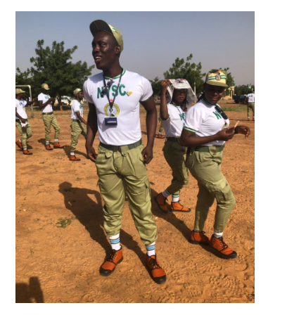 [Photos]: Corper shares the reaction he got from his dad over his huge eggplant