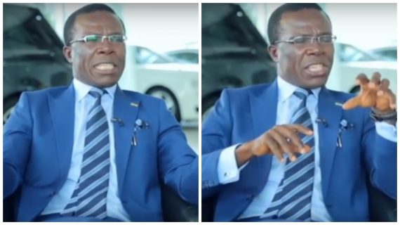 Video: Billionaire Owner of Coscharis Motors Spotted Evangelizing On The Street Of Lagos