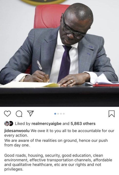 DBDFBAC9 A137 467B A69A 8170C30DC63D - 'Take your bad luck somewhere else' – Mercy Aigbe dragged over her comment on Sanwo-Olu's page