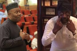 "Video: ""Godswill Akpabio as a retired Senator, I will miss you in the 9th senate but we will definitely meet on the streets of Abuja."" - Dino Melaye Mocks Akpabio For Not Returning"
