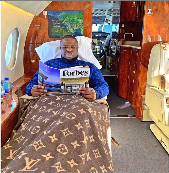 H - Dubai-based Nigerian big boy, Hushpuppi Flies A Private Jet After Missing Paris Flight For A Whopping N25.2 Million