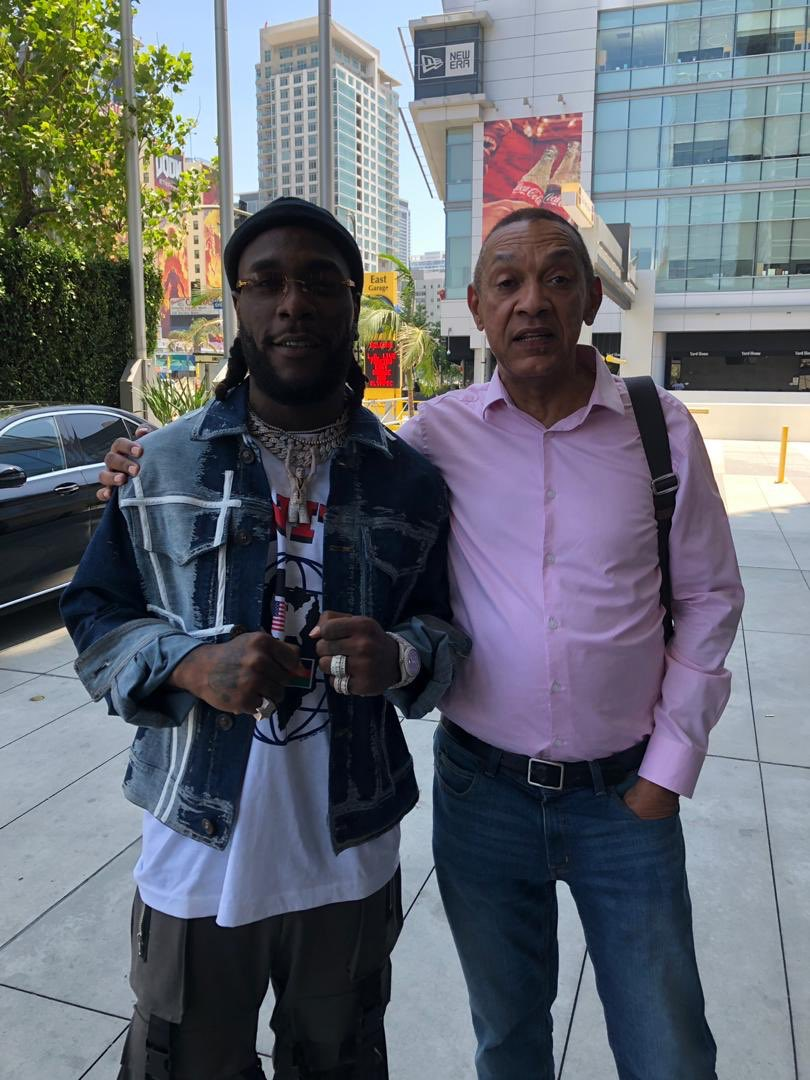 Ben Bruce pictured with Burna Boy in L.A
