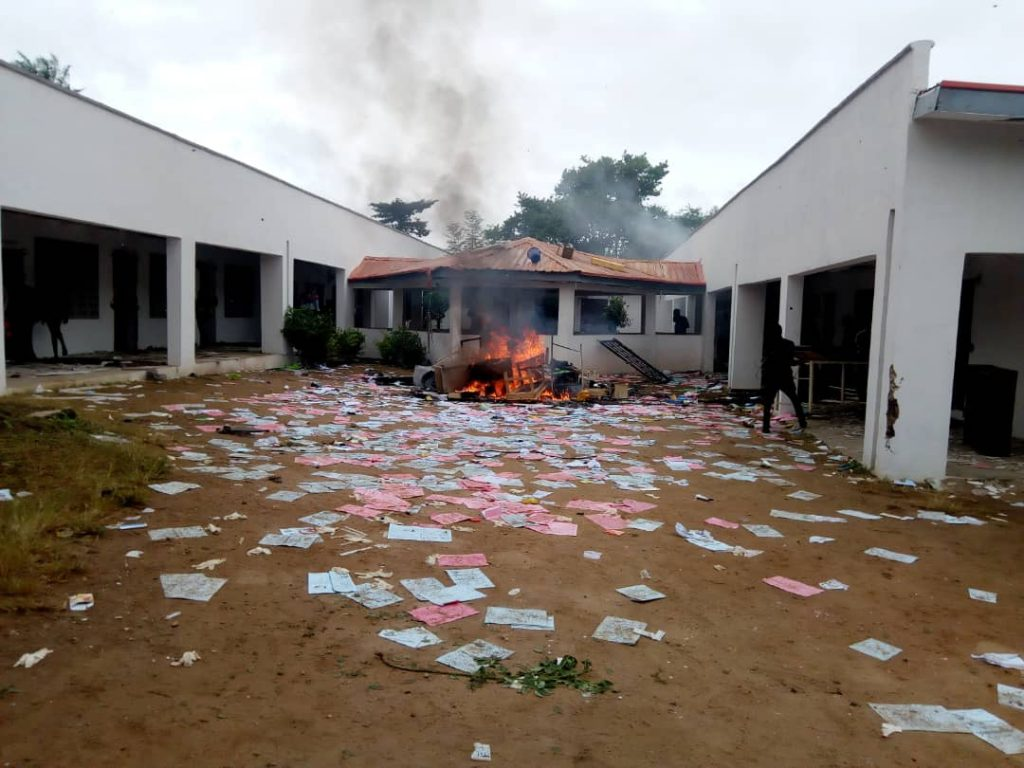 OSUB - Osun State Poly Under Fire As Students Vandalize Medical Center
