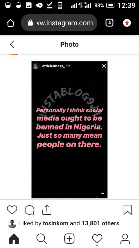 Screenshot 20190602 123952 - Big Brother Star, TBoss Wants FG To Ban Social Media