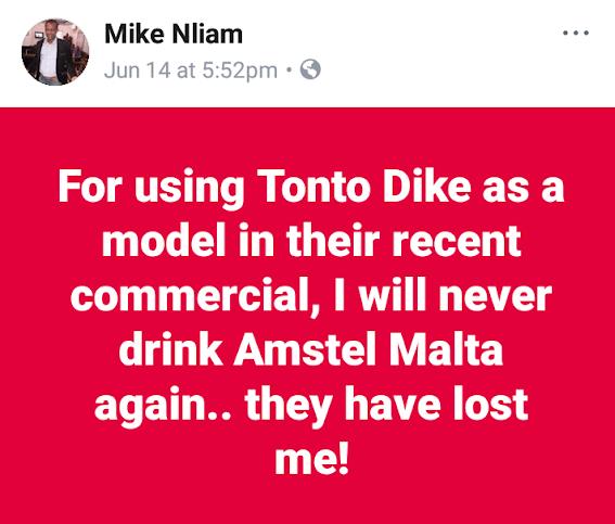 Screenshot 20190620 123731 2 - Movie Producer, Mike Nliam Dissociates Self From Brand After It Named Tonto Dikeh Ambassador