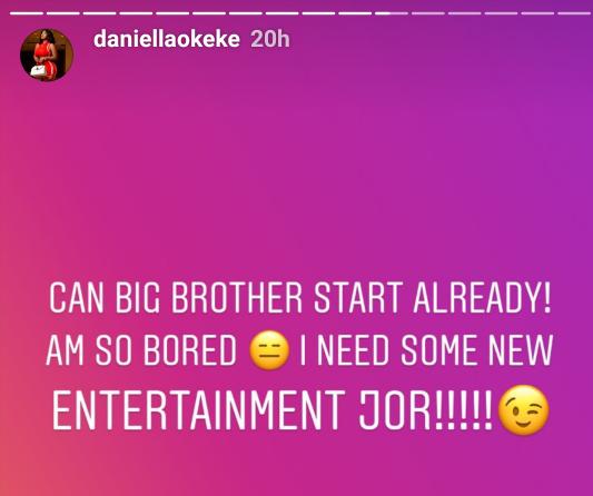 Screenshot 20190624 095530 540x762 - Actress Daniella Okeke Prays For BBNaija Season 4 To Begin Who else agrees