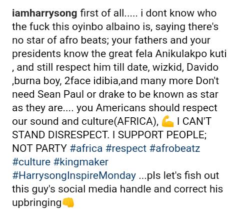 Screenshot 20190624 1929372 - Harrysong Blasts American Djs Who Said Wizkid Is Nobody Without Drake