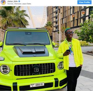 Screenshot 3 300x294 - Zlatan Ibile Replies Critics Who Blasted Him For Snapping With The Same Car As Hushpupi