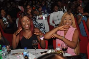 ay1 300x199 - Photos: Regina Daniels, Dino Melaye And Onazi Light Up AY Live With Cash Gifts