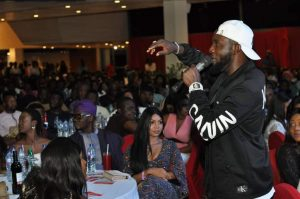 ay2 300x199 - Photos: Regina Daniels, Dino Melaye And Onazi Light Up AY Live With Cash Gifts