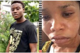 [Photos]: Nigerian singer allegedly beats girlfriend into a pulp for coming home late