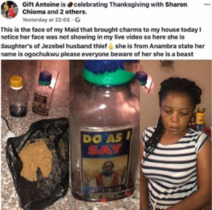 b 300x297 - Shocking!!! Lady narrates how her house-help wants to snatch her husband with voodoo
