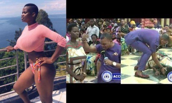 Video: Model Pamela Odame Delivered From ''Spirit'' By Popular Pastor