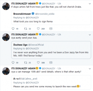 don 2 300x293 - #GIVEAWAYSEASON: Mavins CEO, Don Jazzy gives out 100,000 Naira to 3 fans on Twitter