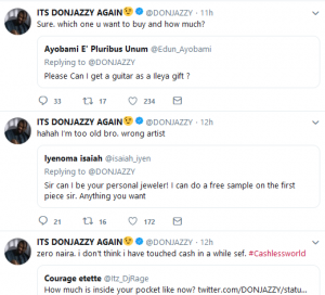 don 3 300x272 - #GIVEAWAYSEASON: Mavins CEO, Don Jazzy gives out 100,000 Naira to 3 fans on Twitter