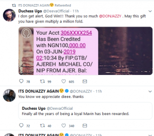 don 4 300x265 - #GIVEAWAYSEASON: Mavins CEO, Don Jazzy gives out 100,000 Naira to 3 fans on Twitter