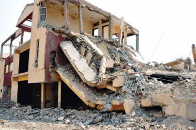 eb955db6 building collapse - Another Building Collapses In Lagos As Three escape Death