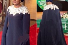 Wow!!! See The Cost Of Aisha Buhari's Democracy Day Attire