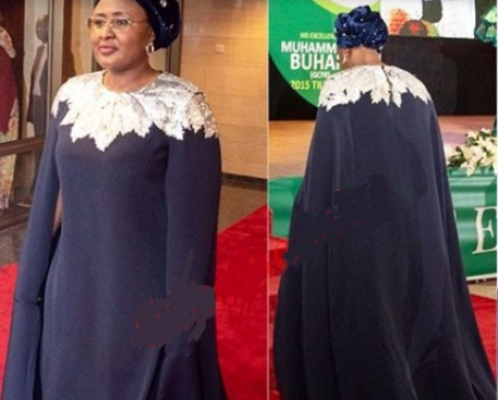 Wow!!! See The Cost Of Aisha Buhari's Democracy Day Attire